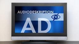 Audiodeskription auf einem Fernseher. © fotolia Fotograf: Beboy, N-Media-Images