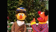 Ernie und Bert aus der Sesamstrasse (Folge 2789).