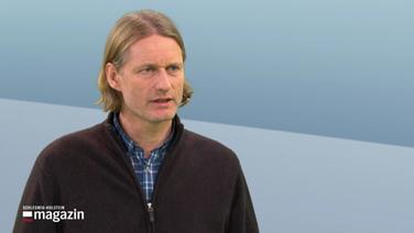 Agrarökonom Jens-Peter Loy im Gespräch beim Schleswig-Holstein Magazin.