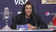 ESC-Gewinner Salvador Sobral auf der Pressekonferenz in Kiew