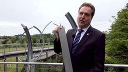 Der Bürgermeister von Übach-Palenberg und die Klangbrücke