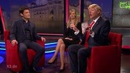 Christian Ehring im Gespräch mit Donald Trump (aka Max Giermann)