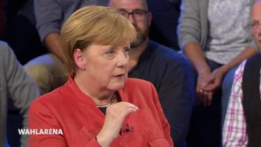 Angela Merkel in der Wahlarena am 11. September 2017