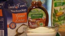 Einige Zuckerhaltige Lebensmittelprodukte.