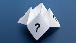 Ein gefaltetes Papier mit Fragezeichen © fotolia.com Fotograf: Feng Yu
