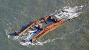 """Wrack der """"Pallas"""" in der Nordsee vor Amrum. © dpa /picture alliance Foto: Carsten Rehder"""