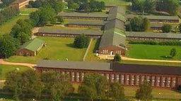 Luftaufnahme des ehemaligen Konzentrationslagers Neuengamme.