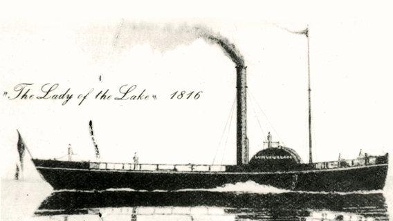 1816 Erster Raddampfer Fahrt Auf Der Elbe Ndr De Geschichte