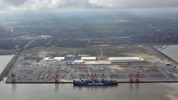 Das Container Terminal des JadeWeserPort. © JadeWeserPort-Marketing GmbH & Co. KG