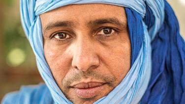 Mohamedou Slahi auf der Baustelle seines neuen Hauses in Nouakchott © Jörg Gruber Foto: Jörg Gruber