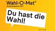 """Das Logo des """"Wahl-O-Mat"""" der Bundestagswahl 2021 © bpb"""