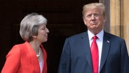 Donald Trump und Theresa May © dpa