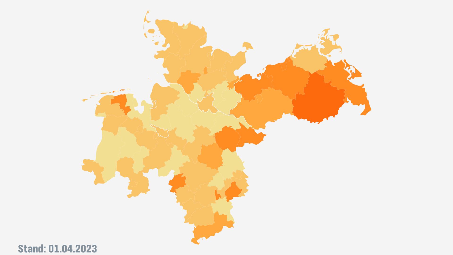 Corona Karte Inzidenz Der Neuinfektionen In Den Landkreisen Ndr De Nachrichten Ndr Info