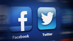 Das Logo von Twitter und Facebook © NDR