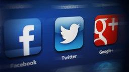 Das Logo von facebook, Twitter und google+ © NDR