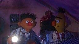 Ernie und Bert sitzen in einem Zelt © NDR/Sesame Workshop Foto: NDR