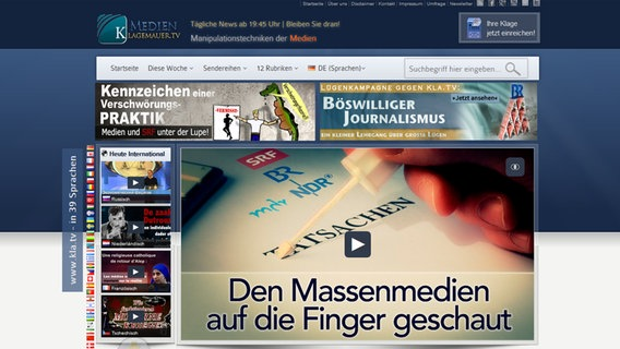 Die Website von Klagemauer.tv. © Klagemauer.tv Foto: Screenshot