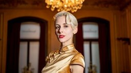 """Die Kabarettistin Lisa Eckhart präsentiert im Literaturhaus Hamburg ihren Debütroman """"Omama"""". © Axel Heimken/dpa Foto: Axel Heimken"""