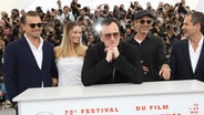 "Das Team von ""Once Upon A Time ... In Hollywood"" um Quentin Tarantino in Cannes © Vianney Le Caer/Invision/ dpa-Bildfunk"