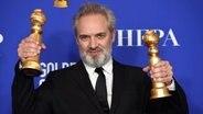 Regisseur und Autor Sam Mendes bei der Preisverleihung der Golden Globes 2020 in Hollywood © Chris Pizzello/Invision/AP/dpa-Bildfunk