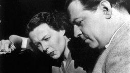 Der Schlagerkomponist Ralph Maria Siegel und Ilse Werner (1954).