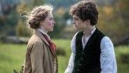 Saoirse Ronan und Timothée Chalamet in Greta Gerwig's Historienfilm