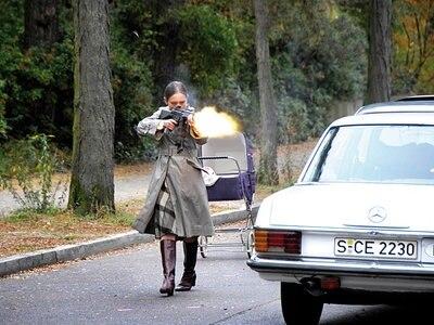 Ruth (Sandra Borgmann) während der Schleyer-Entführung © 2008 Constantin Film Verleih GmbH