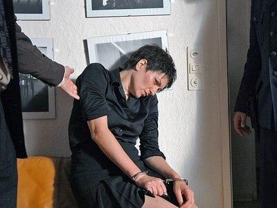 Die Verhaftung von Ulrike Meinhof (Martina Gedeck) © 2008 Constantin Film Verleih GmbH