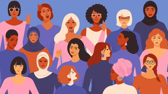Frau entwicklung der Frauen in