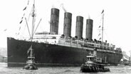 "Das britisches Passagierschiff ""Lusitania"" 1907 in New York. © International Film Service"