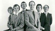 Pressefoto: The King's Singers (1978 - 80), Nigel Perrin, Bill Ives, Anthony Holt, Brian Kay, Simon Carrington, Alistair Hume (von links) © The King's Singers