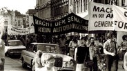 Demonstration in Ottensen um 1973. © Kieseritzki, Stadtteilarchiv Ottensen