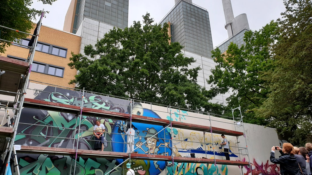 Graffiti-Kunst beim Urban Nature Festival Hannover