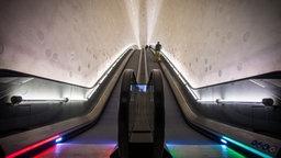 Die Rolltreppe in der Elbphilharmonie © Christian Spielmann / NDR Foto: Christian Spielmann