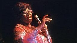 Die US-amerikanische Jazz-Sängerin Ella Fitzgerald © picture-alliance / dpa Fotograf: Horst Ossinger