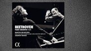CD-Cover: Martin Helmchen - Beethoven: Piano Concerto 1 & 4 © Alpha