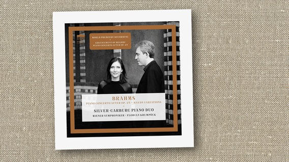 CD-Cover: Silver-Garburg Piano Duo - Brahms: Piano Concerto after Op. 25 / Haydn Variations © Berlin Classics