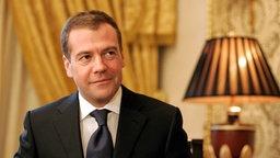 Dmitri Medwedew, russischer Präsident © picture-alliance/ dpa