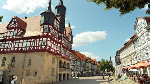 Rathaus in der Altstadt in Duderstadt. © picture-alliance / dpa Foto: Frank May