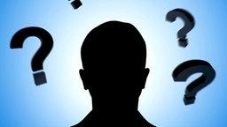 Fragezeichen umrunden einen Kopf © Fotolia.com Foto: smartdesign