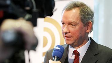 NDR Intendant Lutz Marmor im Interview, Vorstellung des Deutschen Radiopreises am 4.02.2010 in Hamburg © ARD-Foto