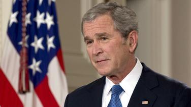 US-Präsident George W. Bush hält seine Abschiedsrede an die Nation. (15. Januar 2009) © dpa - Bildfunk Fotograf: Mannie Garcia