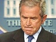 George W. Bush bei einer Rede im Weißen Haus. © dpa - Report Fotograf: EPA/SHAWN THEW