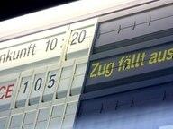 Anzeigetafel der Deutschen Bahn © dpa-Report Fotograf: David Ebener