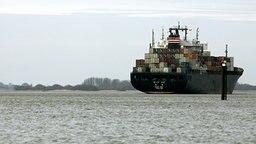 Containerschiff auf der Elbe bei Hamburg © dpa-Bildfunk Foto: Jens Ressing