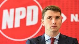 Frank Franz ist seit im Herbst 2014 Vorsitzender der NPD © picture alliance / dpa Foto: Jan Peters