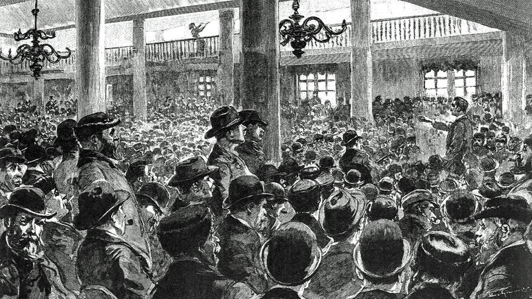 1896 streiken die Hamburger Hafenarbeiter
