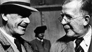 Heinrich (r.) und Thomas Mann 1940 in New York. © picture-alliance/ dpa Foto: Keystone