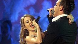Robbie Williams und Kylie Minogue © dpa