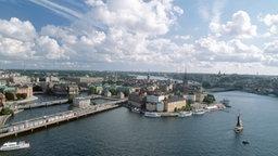 Blick auf Stockholm, Insel Riddarholmen © dpa